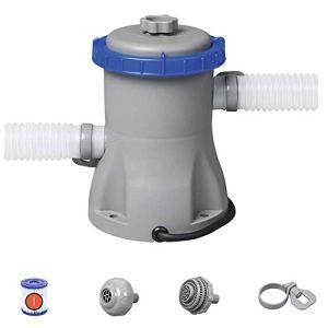 YYM Pompe de Filtration Standard européenne de gallons Flowclear 330Gal de Pompe de Filtre de Piscine, Gris, 27X25x27 Cm
