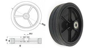 Zabi Roues pour mähmaschinen/roues pour Rasenmäher d = 200mm Roulement à billes