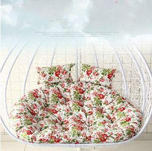 Zhaodong Meubles de jardin Cour Hanging panier Chaise Rocking Chair éponge Balançoire Coussin de siège, Taille: 110x100x10cm (Rose) Zhaodong (Color : Pink)