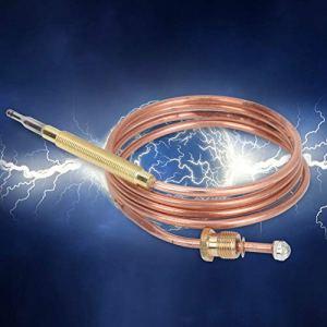 Zwindy Thermocouple à gaz, thermocouple de cheminée, Ensemble Pilote de Chauffe-Eau de Remplacement de thermocouple pour cuisinière à gaz pour Chauffe-Eau pour cuisinière à Induction