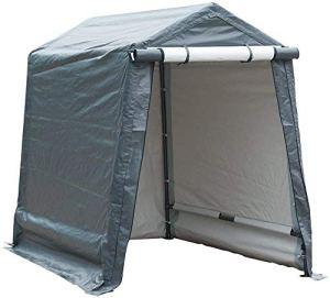 ABBA Patio de stockage Shelter 6x 8pieds extérieur Carport Abri de jardin Auvent de voiture Résistant, gris 6 x 8 ft gris