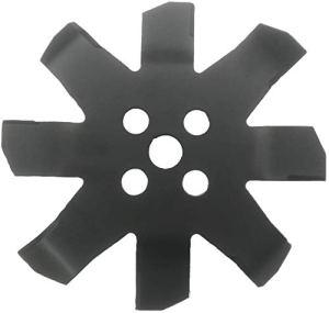 Avalon Tools Disque de débroussailleuse Avalon ZARZAS 8 Embouts 250 x 25,4 x 3 Noir