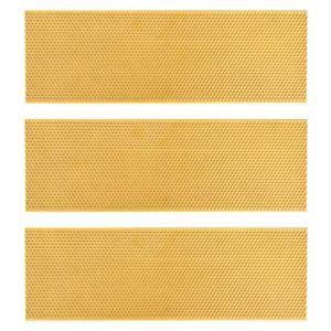 Balacoo 3 Pièces Ruche Fondation Feuilles en Plastique Flexible Cire Enduit Feuille de Nid D'abeilles Nid Fondation L'apiculture Élever Outil (Orange)