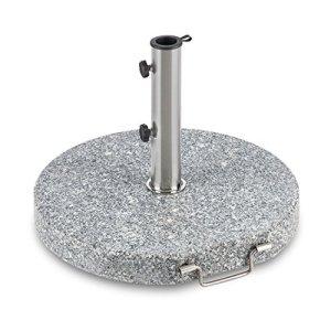 blumfeldt Schirmherr 30RD Pied de Parasol (30Kg en Granit à la Surface polie, Ronde de 45 cm, parasols au Manche de 4 à 5 cm d'épaisseur) – Gris