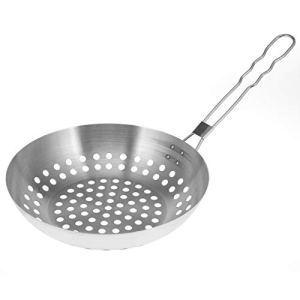 bremermann Poêle à griller ronde // avec poignée rabattable // acier inoxydable Ø env. 30,5 x 55,5 cm // Grille de barbecue