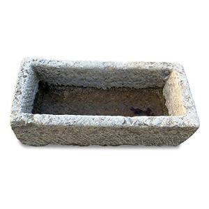 CBAM Baignoire d'extérieur en pierre naturelle pour Ailes ou Fontaine Garden Natural Stone Tub L.91 cm