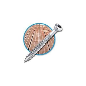 Diamwood – Seau de 500 vis terrasse INOX A2, tête réduite crantée, TX25, D. 5 x 50 mm + embout offert – 98000505505 – Diamwood