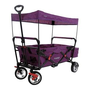 Fuxtec Chariot de Transport Pliable Enfant FX-CT500 avec Toit Anti-UV Pourpre