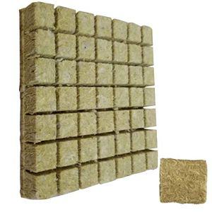 Grodan Hydroponique Laine de Roche Semis Bloc De Coupe Soilless Agricole Hydroponique Culture Substrat pour Rockwool Starter Plugs 50pcs