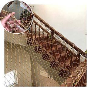 GZHENH-Telone Telo Copertura Filet De Pêche Décoratif,Decorative Net Child Stairs Anti-Falling Net Rope Thickness 12mm Garden Climbing Frame Net,Customizable (Color : Brown-12cm, Size : 6x6m)