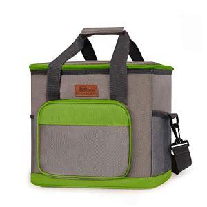 HOMESPON Sac Isotherme Cooler Bag 23,5L Sac de Pique-Nique Thermique Étanche avec Bandoulière Réglable pour École, Travail, Plage, Pique-Nique et Camping