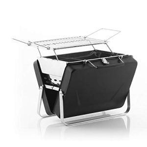 InnovaGoods Mallette Barbecue à Charbon Portable et Pliable Handy·Q – Pique-nique, Noir