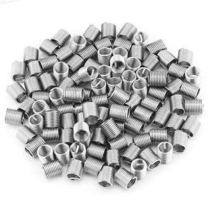 LDDJ Boulon 100pcs Acier Inoxydable 304 Fil enroulé à vis à vis hélicoïdal Inserts de Filetage M8x1.25x2D Réparation à Filetage hélicoïdal Outils de réparation Matériel en métal