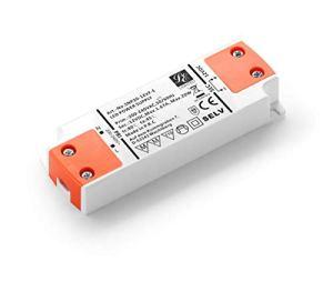 LIGHTEU, Transformateur d'alimentation LED – 20W, 12V DC, 1.67A – Tension constante pour les bandes LED et G4, MR11, MR16 Ampoules LED