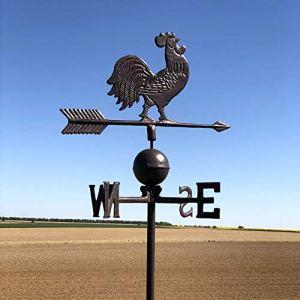 L'ORIGINALE DECO Girouette à Vent Coq de Jardin sur Tige à Pic Piquer 184 cm x 47 cm