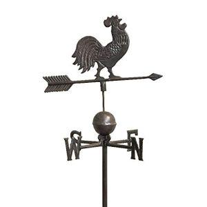 L'ORIGINALE DECO Girouette Coq de Jardin à Piquer Pic en Fonte 184 cm x 47 cm