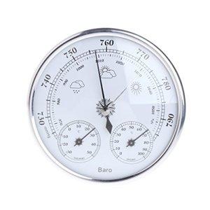 Lunji 3 en 1 Baromètre Thermomètre Hygromètre Station Météo sans Fil (Argent)
