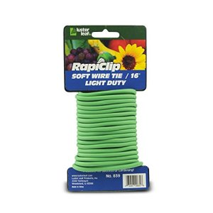 Lustre Feuille 856Rapiclip Vinyle Extensible Tie, Marron Light Duty Green