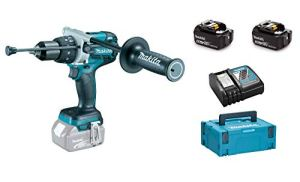 Makita DHP481RT3J 18V Li-Ion accu klop-/boormachine set in Mbox (3x 5,0Ah accu) – 115Nm