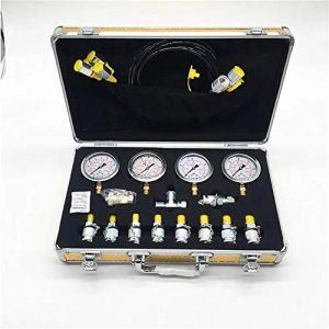 Manomètre Portable Haute précision Test Table Pompe hydraulique Manomètre Boîte Kit testeur Pression piézomètre (Color : Silver, Size : One Size)