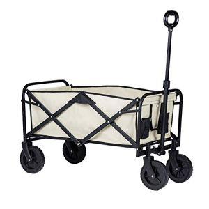 NEHARO Chariot Pliant Wagon Pliant Chariot Chariot Camping Portable avec poignée réglable Chariots de Jardin Wagons (Color : As Shown, Size : 105x52x102cm)