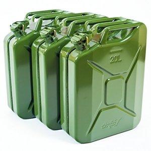 Oxid7® Jerrican métallique pour carburant 20litres Vert olive Avec homologation ONU et certification TÜV Rhénanie Conception testée
