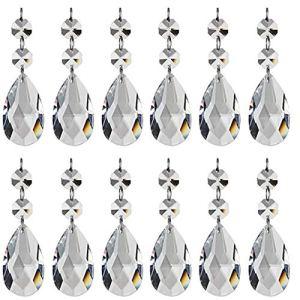 Pendentif Cristal Teardrop Perles De Verre Lustre En Cristal Net Octogonales Perles Pour Bureau Maison Décoration De Mariage Fournitures Pratiques