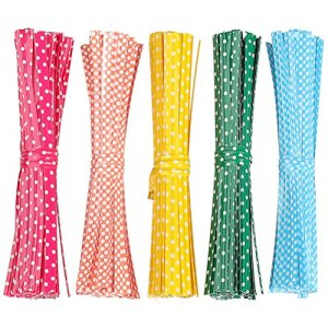Pengxiaomei 500pcs métallique Twist Ties, coloré, Attaches de Sac en cellophane pour Cadeaux de fête