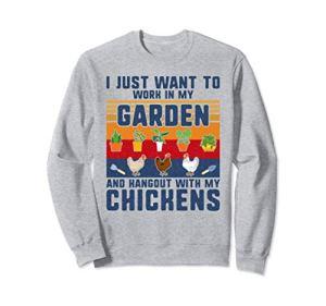 Propriétaire de poulets Amoureux du jardinage Agriculteur Fl Sweatshirt