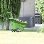 Prosperplast Boardebox Coffre de Jardin 190 litres Plastique Anthracite 78 x 43,3 x 55 cm, 190 L