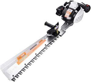 REWD Taille Haies électriques Couverture Machine, Branche thé Trimmer, Double Simple Couteau d'outils de Jardin, Longueur de la Lame 650mm (Size : Single Pole)