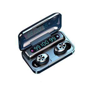 rongweiwang Bluetooth 5.0 sans Fil du Casque à Affichage numérique écouteurs LED Tactile Casque Intra-auriculaire stéréo avec Charge Box