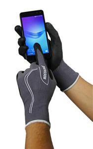 Rostaing MAXFEEL Gant Serie Touch Portable, Gris/Noir, 32,5 x 11 x 1 cm