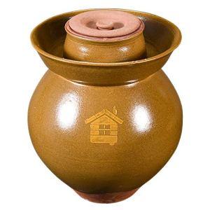 RTDotey Pot d'argile, Terre en Terre Cuite Rhum Schmalztopf Faïenware Miel Brown,Marron,8