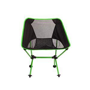 SPFOZ Décoration d'intérieur Chaise de Plage Pêche pâturage Camping Chaise Pliante ultralerie Meubles d'extérieur 7075 Al Oxford Tissu Max 150kg Modern Moon Chair (Color : Light Green)