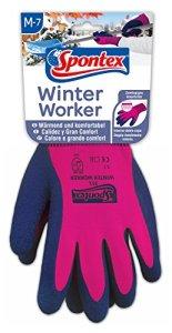 Spontex Gants pour travailleur hivernal Tricotage épais et doublure pour une grande protection contre le froid Taille7