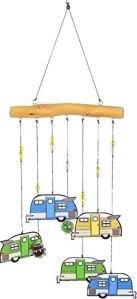 Spoontiques 14088 Camper Driftwood Wind Chime, Multicolored