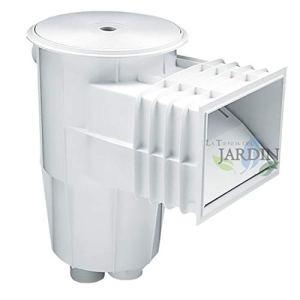 Suinga Skimmer 15 litres, bouche standard et couvercle circulaire. Couleur : blanc. Comprend un panier ramasse-feuilles