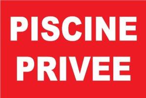 tsme Panneau signalétique Piscine privée