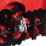 vidaXL Souffleuse à Neige à Deux Etages Allée Trottoir Pavée de Propriété Résidentielle Commerciale Rouge et Noir Plastique 196 cc 6,5 ch