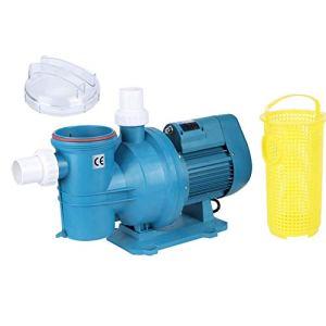 Wakects Pompe à Eau de Circulation de Filtration de Piscine, Équipement de Traitement d'eau avec Aspiration, Pompe de Piscine Pompe de Filtration Auto-Amorçante(220V)