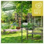 wildtierherz I Station d'alimentation de Qualité Supérieure – Vert en Métal Revêtu par Pulvérisation – Kit Complet avec Colonne d'alimentation [235cm]