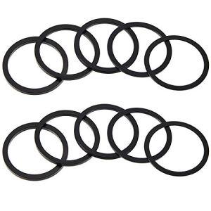 10 Pièces Vélo 7 8 9 10 11 Vitesses Cassette en Alliage d'Aluminium Entretoises de Moyeu de Volant 1 mm 1,5 mm 2 mm 2,5 mm 3 mm Rondelle de Pédalier (Noir)