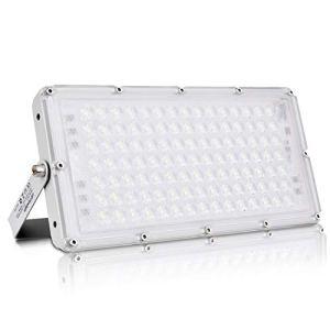 100W Projecteur LED 8000lm Eclairage de Sécurité Imperméable IP66 6500K Blanc froid, Spot LED Extérieur pour éclairage public, garage, couloir, jardin[Classe énergétique A+]