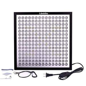 45W LED Grow Light panel, Niellage Ultra fin et ultra léger 225LEDs 6-band Full Spectrum Incluent UV IR pour l'intérieur plantes semis, Floraison, Croissance
