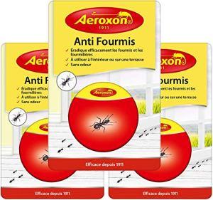 Aeroxon – Anti Fourmis Boite Appat – 3 Paquets – Combat Le nid de Fourmis Entier