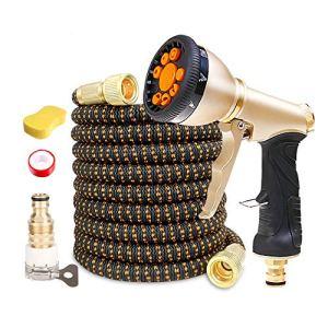 ASKLKD Tuyau télescopique Tuyau 9 Fonction Spray Flexible Anti-Kink Outils de Lavage de Voitures ménagères Anti-Kink Rangement de Jardin 25ft-200ft (Size : 150FT)