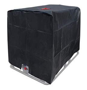 Bâche pour Réservoir d'eau, Couvercle De Protection avec Trou D'injection d'eau pour Conteneur IBC 1000L, 210D Oxford Noir 120 * 100 * 116cm