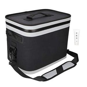 Biuzi Réfrigérateur Sac, 1 Pc 20L en Plein Air Portable Ménage Voiture Stockage À Froid Isolé Alimentaire Thermique Réfrigérateur Sac pour Camping Pêche(Noir)
