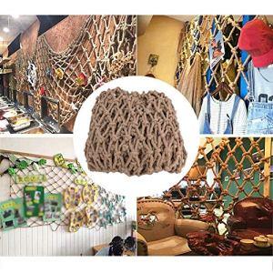 Cargo Net ,Rétro Enfants Animaux Filet Anti-chute Filet De Sécurité Anti-âge Résistant Au Froid Utilisation En Extérieur , Personnalisable ( Color : Beige-16mm , Size : 3x10m )